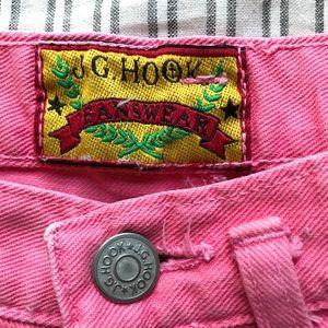 Vintage Shorts - Vintage Faded Pink High Waist Denim Cutoffs